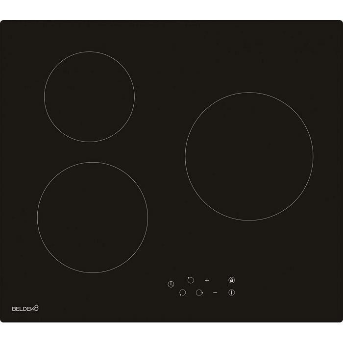 TABLE DE CUISSON INDUCTION - PLAQUE DE CUISSON INDUCTION Table de cuisson Vitroc&eacuteramique 3 foyers - Encastrable BELDEKO18