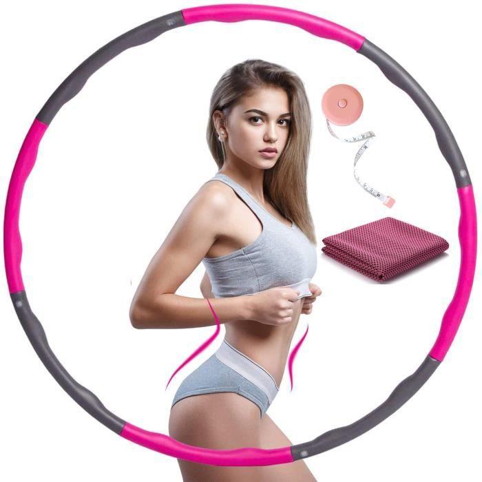Cerceau de Fitness Détachable avec Mousse, Adapté au Fitness/Gymnastique/Activités Intérieures et Extérieures, Largeur réglable