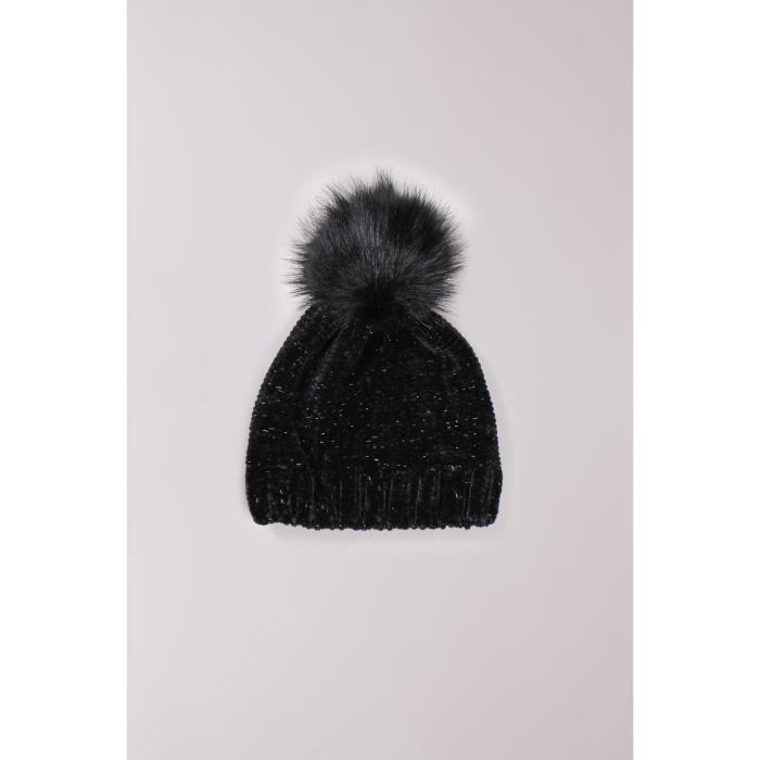 Bonnet à pompon VEGAS - Couleur - Black Lurex, Taille - TU