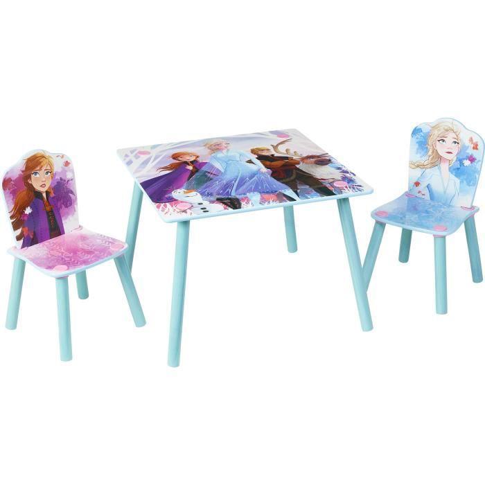 Disney La Reine des Neiges 2 - Ensemble d'une table et 2 chaises pour enfants