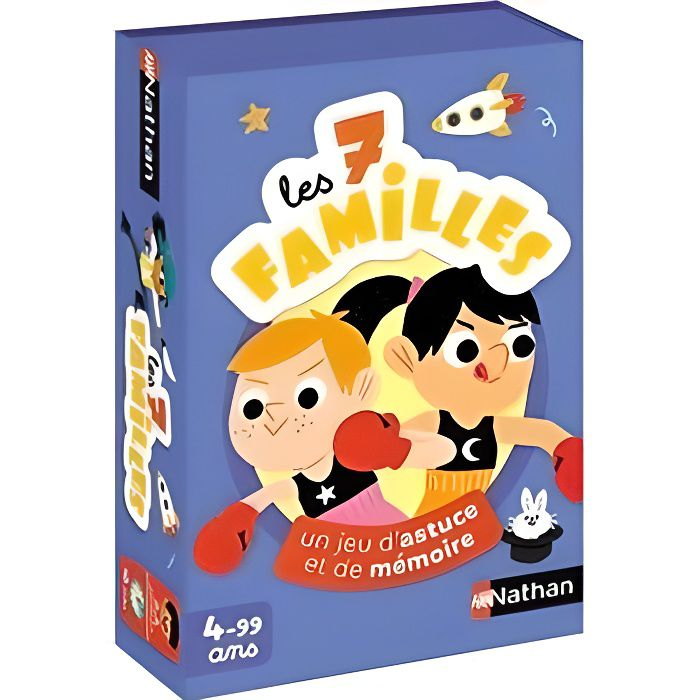 NATHAN - Jeu des 7 familles - Jeu de cartes enfant