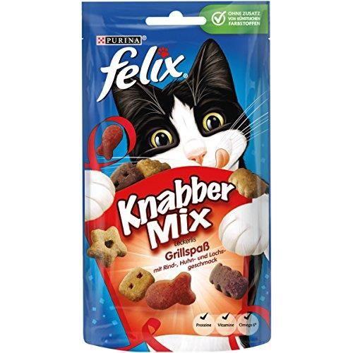 Felix KnabberMix friandises pour Chat, Lot de 8 (Sachet de 8 x 60 g) 12183468