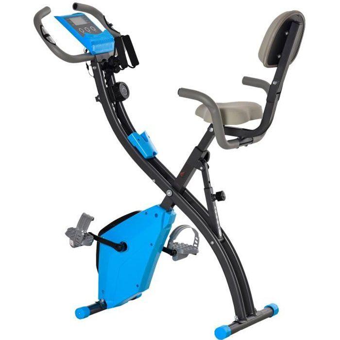 Vélo d'appartement cardio Fit 97x51x115cm Bleu