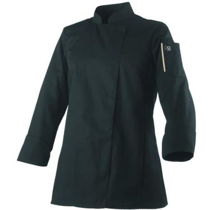 Veste de cuisine femme manches longues Robur UNERA - Noir - XL