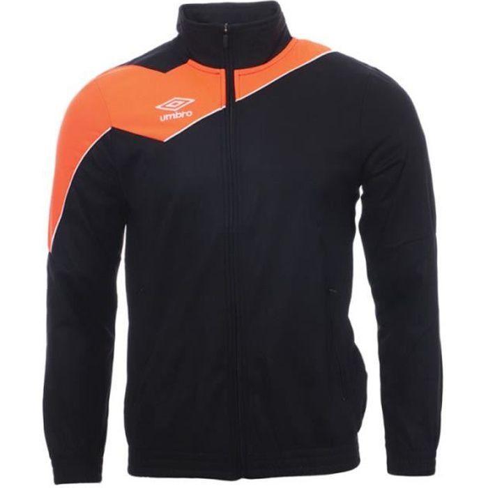 Veste de survêtement Noir/Orange Homme Umbro Division 1