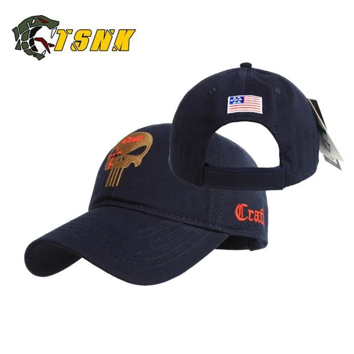 CASQUETTE,T.S.N.K Camouflage hommes femmes casquette de course chapeau américain punisseur sceau - Type Sniper NAVYBLUE adult