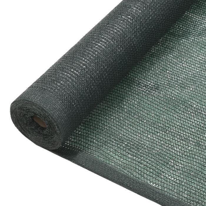 Filet brise-vue PEHD 1,5 x 10 m Vert