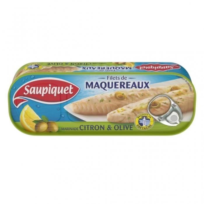 Saupiquet Filets de Maquereaux Citron & Olive 176g (lot de 5)