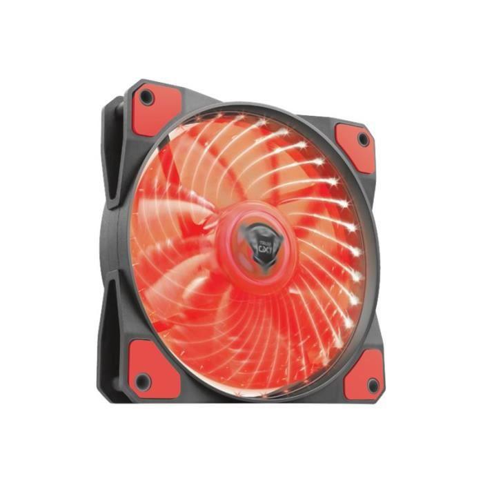 Trust GXT 762R LED Illuminated Ventilateur châssis 120 mm noir, rouge