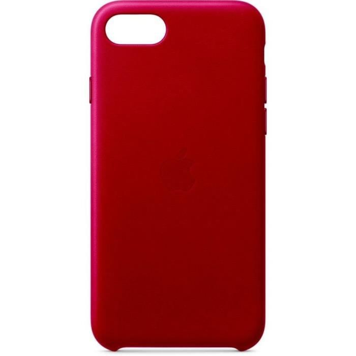 APPLE Coque pour iPhone SE Cuir - (PRODUCT)RED