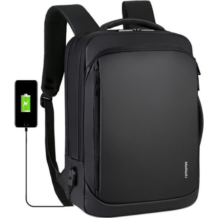 Sac /à Dos Hommes Femmes Sac /à Dos Ordinateur Portable 15,6 Pouces avec Port de Chargement USB pour Universit/é,Voyages,Loisirs,Emploi Gris