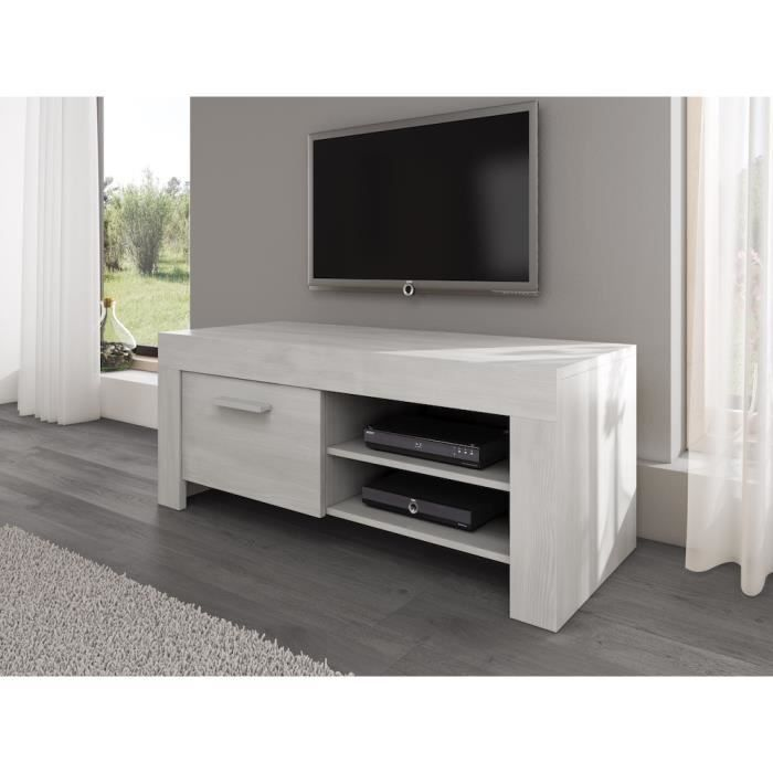 rome meuble tv contemporain d cor ch ne blanc 120 cm achat vente meuble tv rome meuble tv. Black Bedroom Furniture Sets. Home Design Ideas