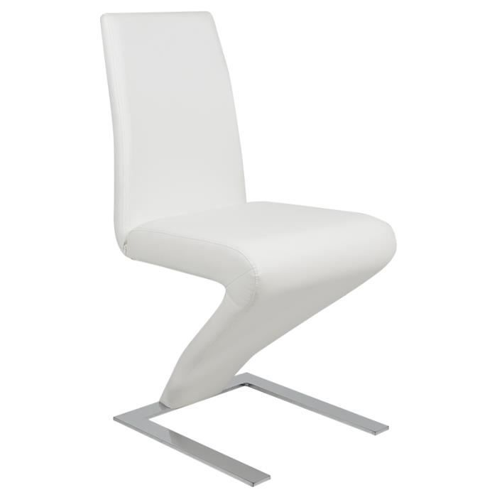 Pu chaise de salle manger meuble luge rembourrage for Chaise salle a manger confortable