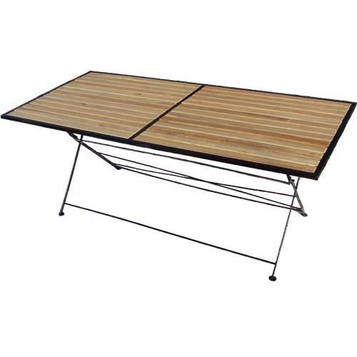 table pliante bois et m tal achat vente table de jardin table pliante bois et m tal cdiscount. Black Bedroom Furniture Sets. Home Design Ideas