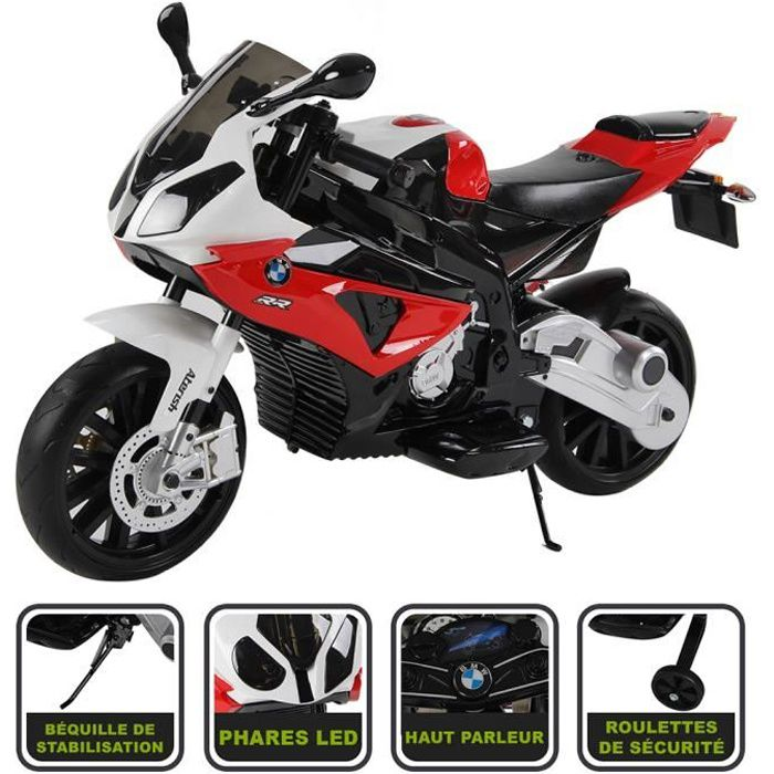 moto lectrique rouge 12v licence bmw achat vente moto scooter cdiscount. Black Bedroom Furniture Sets. Home Design Ideas