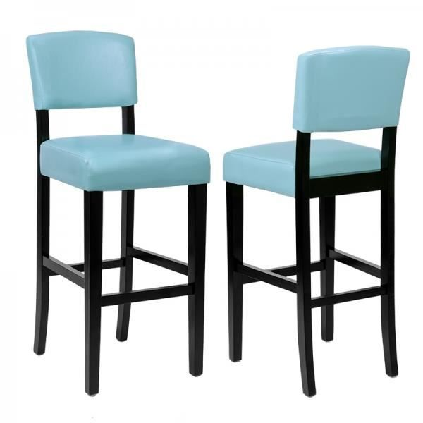 tabouret de bar tucson bleu lot de 2 haute qualite achat. Black Bedroom Furniture Sets. Home Design Ideas