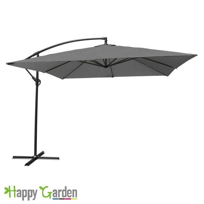 parasol d port carr 2 7x2 7m gris achat vente parasol parasol d port carr 2 7x2 cdiscount. Black Bedroom Furniture Sets. Home Design Ideas