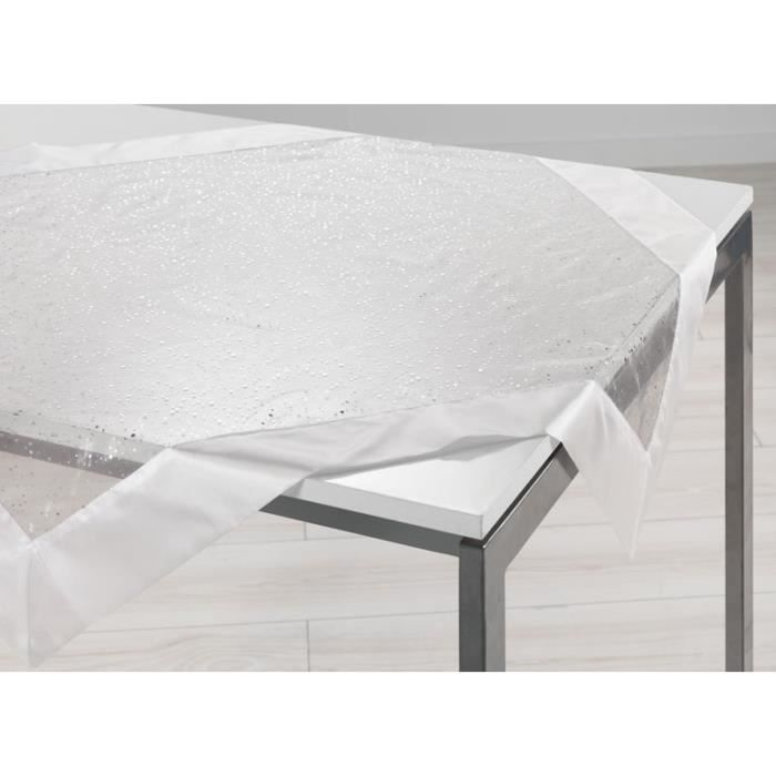 Carr d co allegria blanc achat vente chemin de table cdiscount - Vente privee carre blanc ...