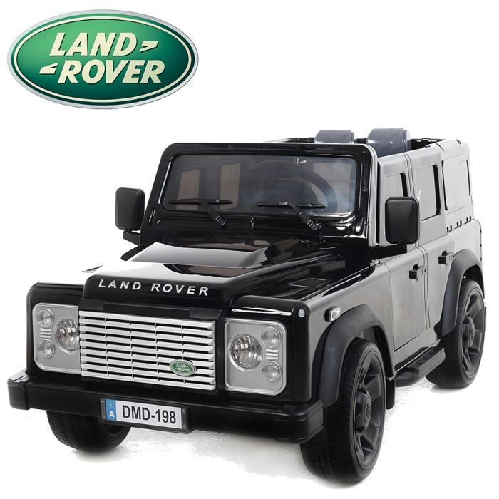 land rover defender voiture lectrique pour enfant noire. Black Bedroom Furniture Sets. Home Design Ideas