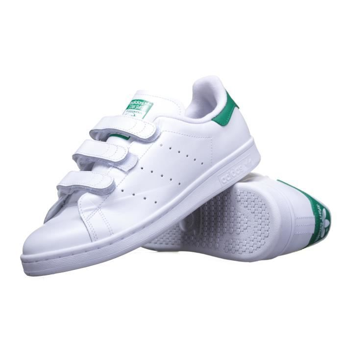 big sale 04d05 6cc7a BASKET Chaussure Adidas Stan Smith Cf S75187 Blanc Vert