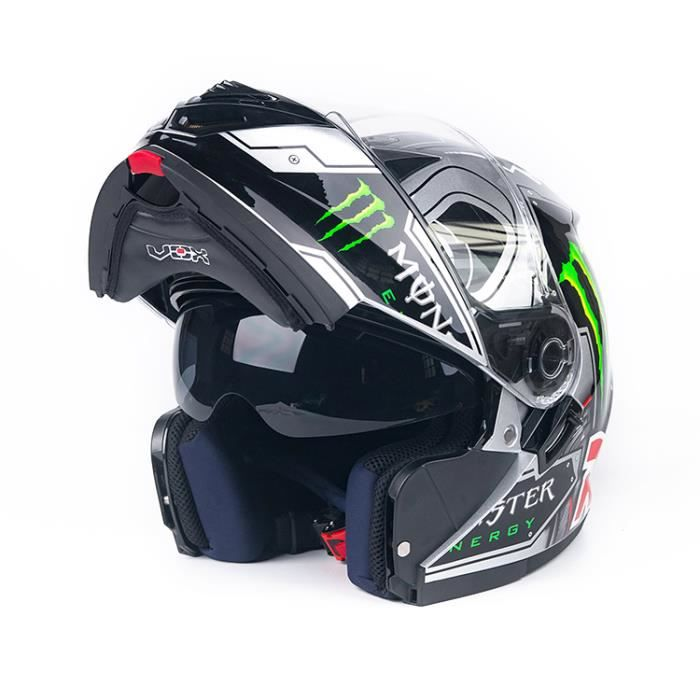casque moto integrale modulable vox monster du m au xxl achat vente casque moto scooter. Black Bedroom Furniture Sets. Home Design Ideas