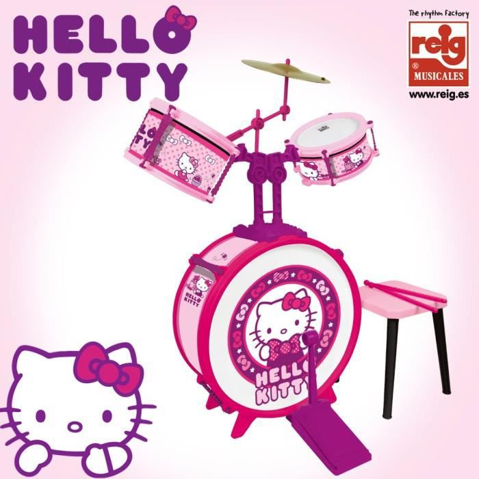 batterie hello kitty achat vente instrument de musique cdiscount. Black Bedroom Furniture Sets. Home Design Ideas