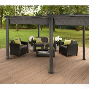pergola aluminium 6x3 achat vente pergola aluminium 6x3 pas cher cdiscount. Black Bedroom Furniture Sets. Home Design Ideas