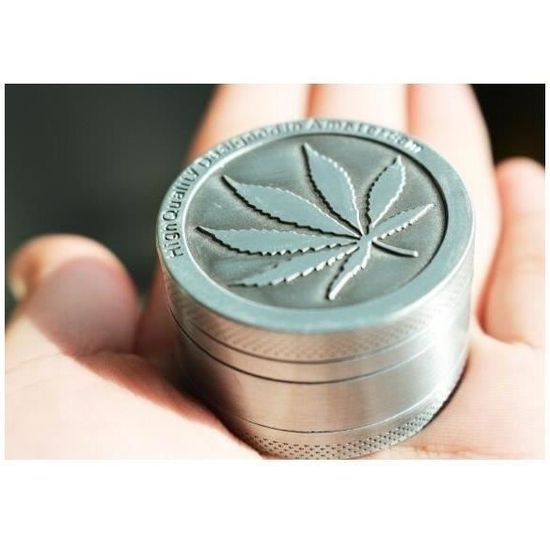 GRINDER MOULIN  A HERBE TRANSPARENT 2 PARTIE DIAMETRE 50 MM