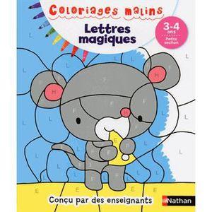 DOCUMENTAIRE ENFANT NATHAN Coloriages Malins - Lettres Magiques Petite