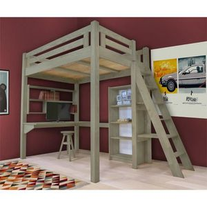 mezzanine 140x200 achat vente mezzanine 140x200 pas cher cdiscount. Black Bedroom Furniture Sets. Home Design Ideas