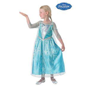 DÉGUISEMENT - PANOPLIE La Reine des Neiges Déguisement Elsa 5-6 ans. Robe