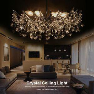 LUSTRE ET SUSPENSION Lustre en cristal 6 Lampes suspension en cristal m