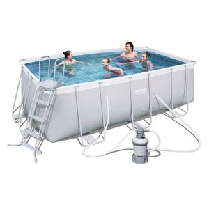 PISCINE BESTWAY Kit Piscine rectangulaire tubulaire L4,12