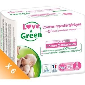 COUCHE LOVE AND GREEN Couches ecolabellisées T1 - 138 cou