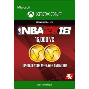 EXTENSION - CODE DLC NBA 2K18: 15 000 VC pour Xbox One