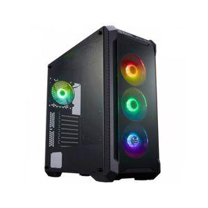 BOITIER PC  BT FORTRON FSP +Fenêtre Verre Trempé Noir -RGB CMT