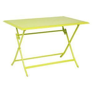 TABLE DE JARDIN  TABLE AZUA HESPERIDE PLIANTE ALU GRANNY 4 PLACES