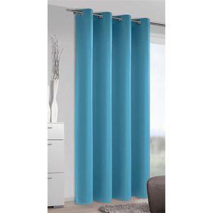 RIDEAU Rideau Tamisant Uni Turquoise 140 x 245 cm