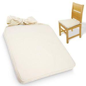 COUSSIN DE CHAISE  Galette de chaise avec housse lavable - set au cho