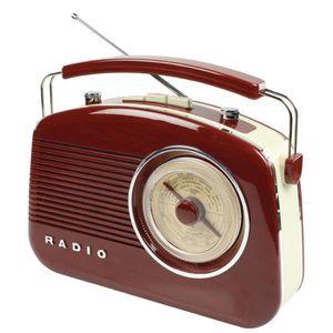 RADIO CD CASSETTE König HAV-TR710BR Portable Analogique Marron Radio