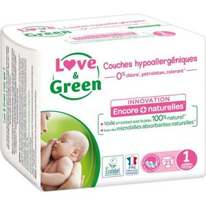 COUCHE LOVE AND GREEN Couches ecolabellisées Taille 1 - 2
