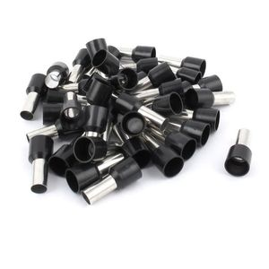 50 connecteurs de terminal isol/é /à virole E10 12/8/AWG 10/mm2 noir