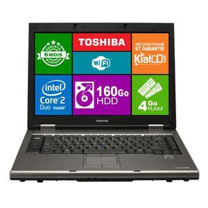 PC Portable ordinateur portable 15 pouces TOSHIBA TECRA A9 core 2 duo,4 go ram 160 go disque dur,windows 7 pas cher