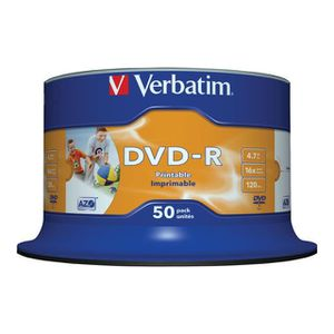 CD - DVD VIERGE Verbatim - Disque DVD-R AZO - 4,7 Go - 16x