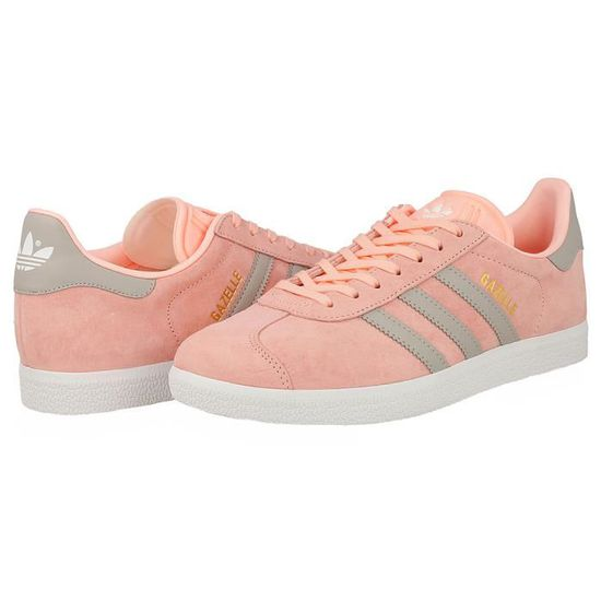 adidas gazelle gris rose femme