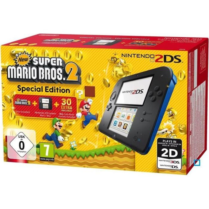 Pack nintendo 2ds bleue new super mario bros 2 achat for Housse 2ds pokemon