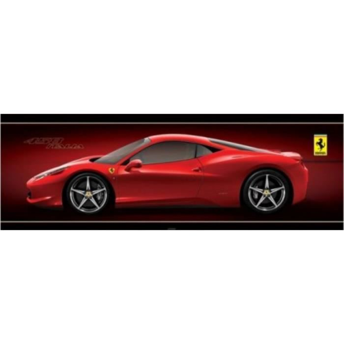 ferrari poster de porte 458 italia 53 x 158 cm achat vente affiche cdiscount. Black Bedroom Furniture Sets. Home Design Ideas