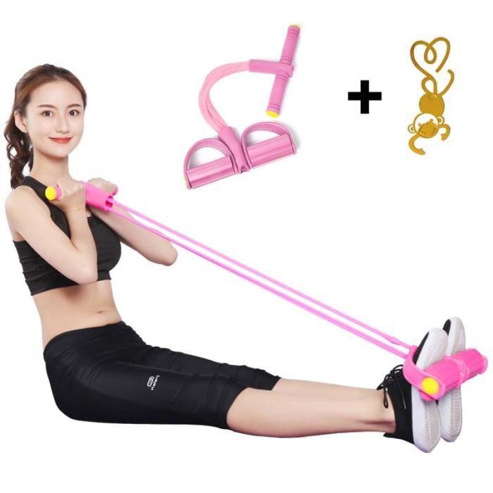 Exerciseur Multifonction Jambe - Sit-up Bodybuilding Expander - Matériel D'entraînement élastique Pull Rope - Bande de Résistance