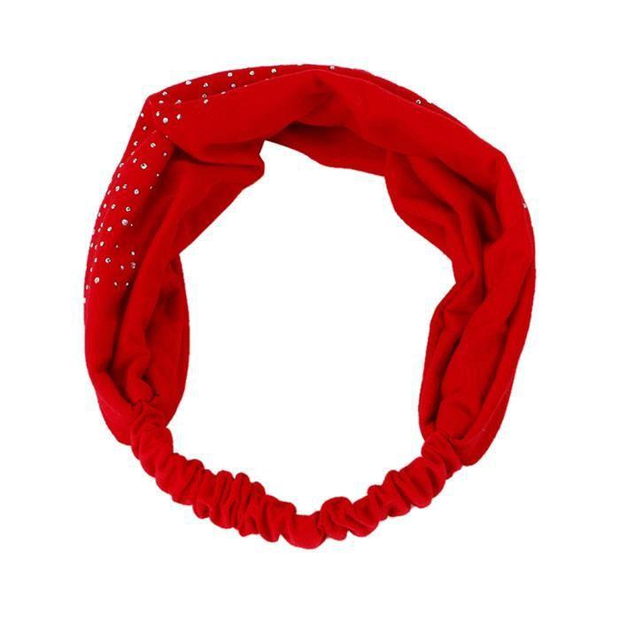 Bande de cheveux-Bandeau à cheveux rouge pour femmes-0084