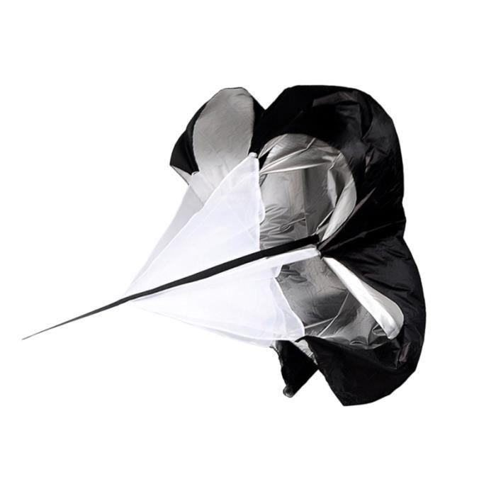 1 Pc formation parachute pliant équipement de course de parapluie de forme physique pratique pour adultes d'athlétisme